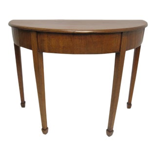 English Georgian Mahogany Demi-Lune Table