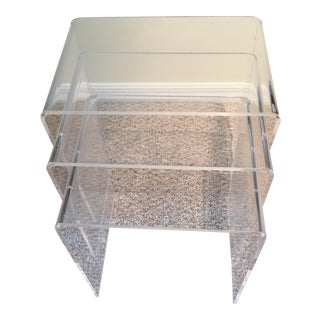 Acrylic Nesting Tables - Set of 3