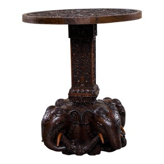 Anglo Indian Raj Table with Elephants circa 1875