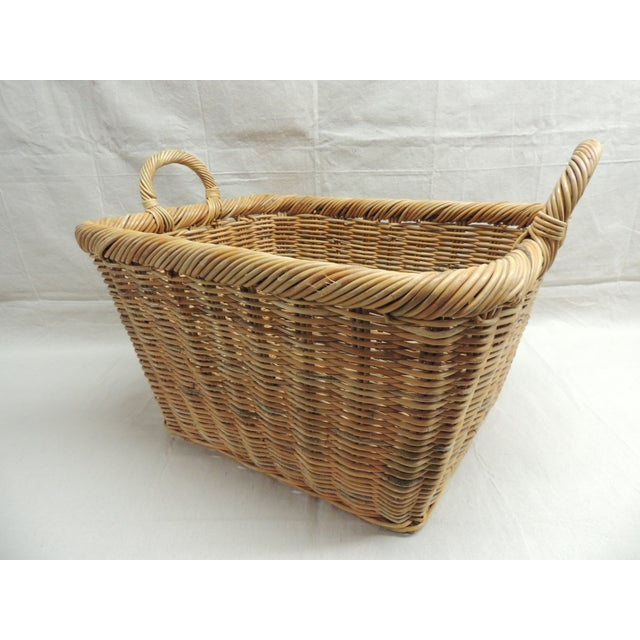 Vintage Wicker Laundry Basket - Image 4 of 4