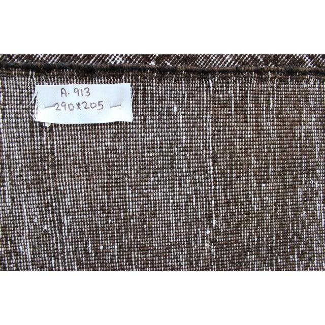 Vintage Black-Gray Turkish Overydyed Rug - Image 8 of 8