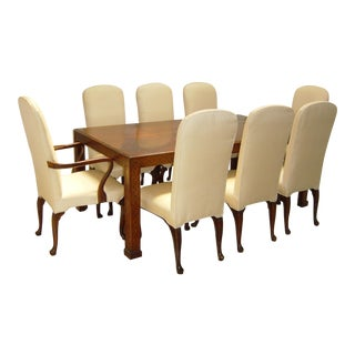Henredon Dining Table & Chairs - Set of 9