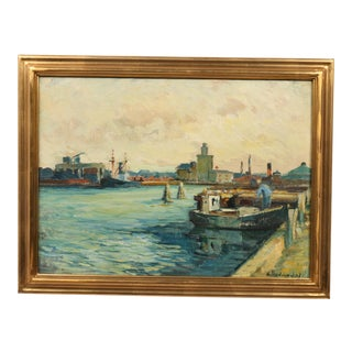 'Morning Harbor' Original Oil Painting