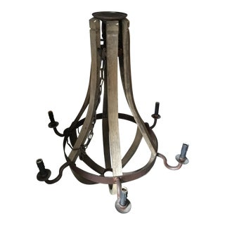 Restoration Hardware Wine Barrel 6 Arm Chandelier