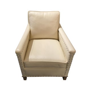 CR Laine Gotham Creme Leather Chair