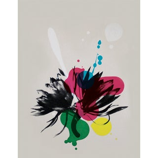 Abstract Art Dahlia Screenprint by Dana McClure