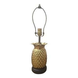 Vintage Brass Pineapple Lamp