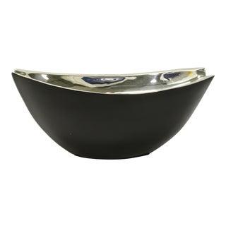 Interlude Millennium Silver & Black Oval Bowl