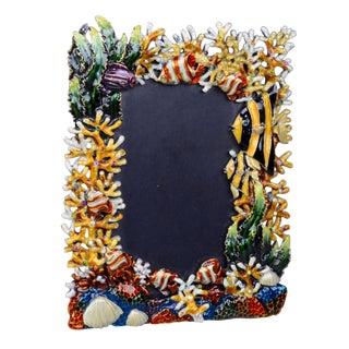 Sea-Motif Rhinestone Picture Frame