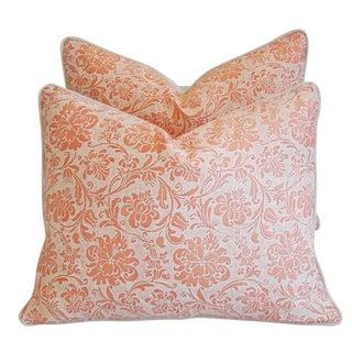 Designer Italian Fortuny Cimarosa Feather/Down Pillows - Pair