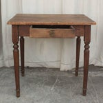 Image of Vintage French Spindle Leg Wooden Side Table