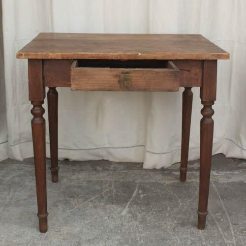 Vintage french spindle leg wooden side table chairish