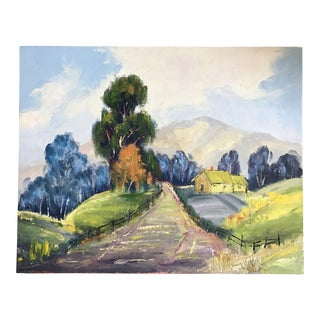 Vintage Countryside Painting