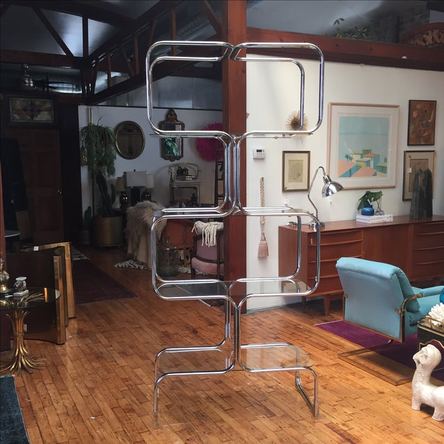 Italian Chromed Steel Etagere by Tricom - Image 2 of 5