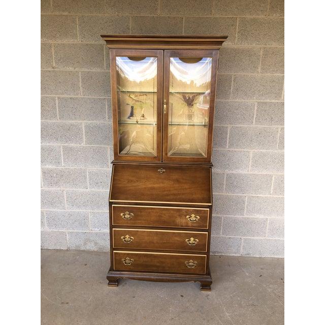 Jasper Furniture Lighted Maple Secretary Desk - Image 11 of 11