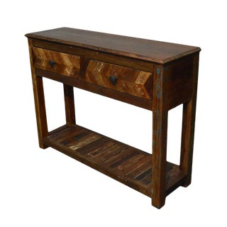 Reclaimed Wood Free Standing Console