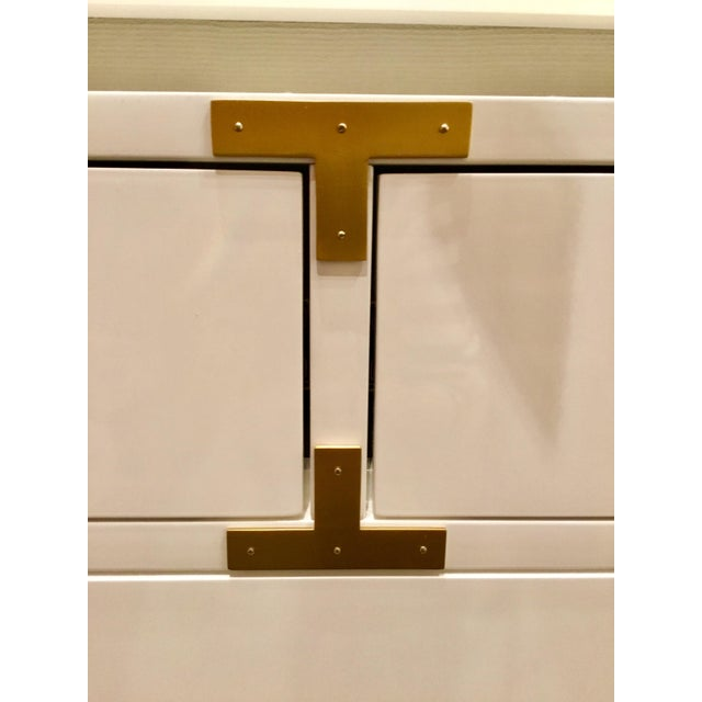 Bungalow 5 Julian White Lacquered Console - Image 5 of 8