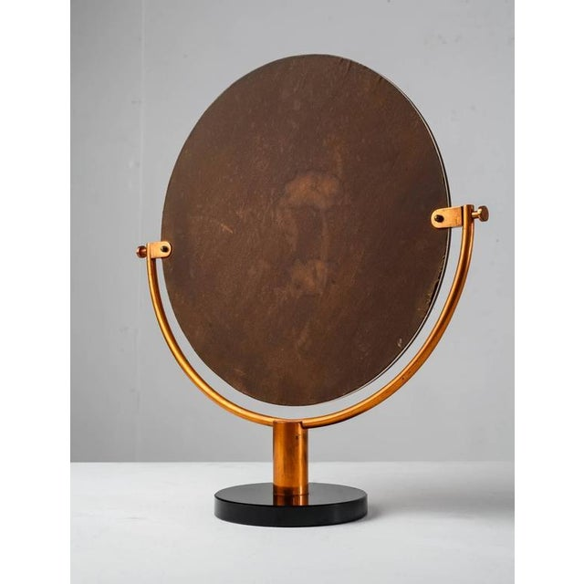 Copper Console or Table Mirror on Round Glass Foot, Germany, 1920s-1930s - Image 4 of 9