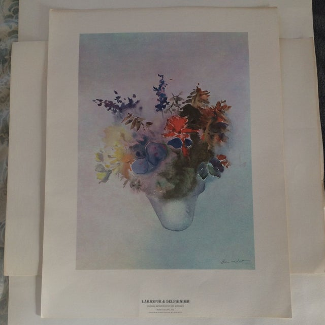 Art Print - Larkspur & Delphinium Flower - Image 2 of 6