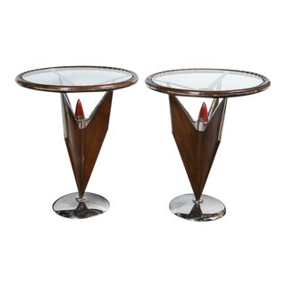 Jonathan Charles Talifin Side Tables Mid-Century Modern Design