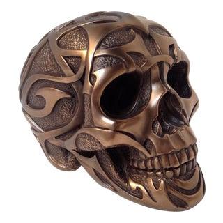 Cast Resin Bronze Skull