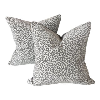 Scalamandre Panther Epingle Velvet Pillows - A Pair
