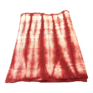 Mali red & white Mud Cloth Textile