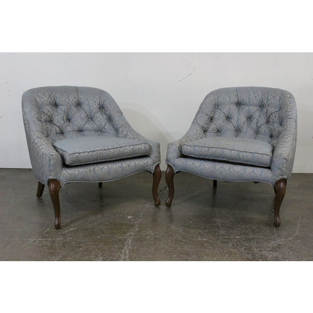 Petite Mid-Centruy Slipper Chairs - A Pair - Image 3 of 6