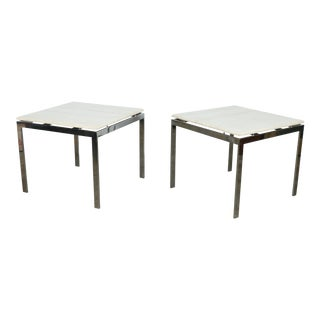 Knoll Steel End Tables - A Pair