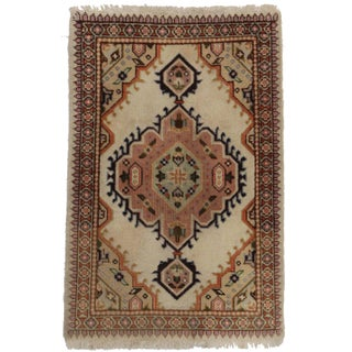 Antique Hand Knotted Wool Persian Rug - 1′11″ × 2′
