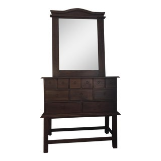 Indonesian Apothecary Cabinet & Mirror