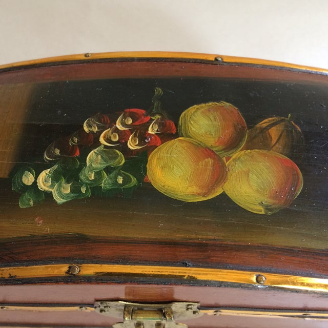 Vintage Hand Painted Fruit Motif Wooden Box - Image 6 of 11
