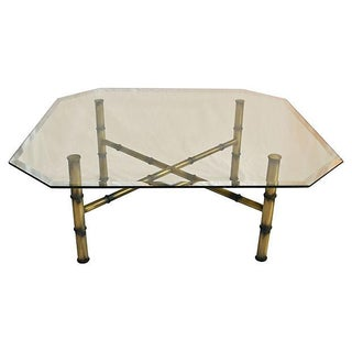 Gold Faux-Bamboo Cocktail Table