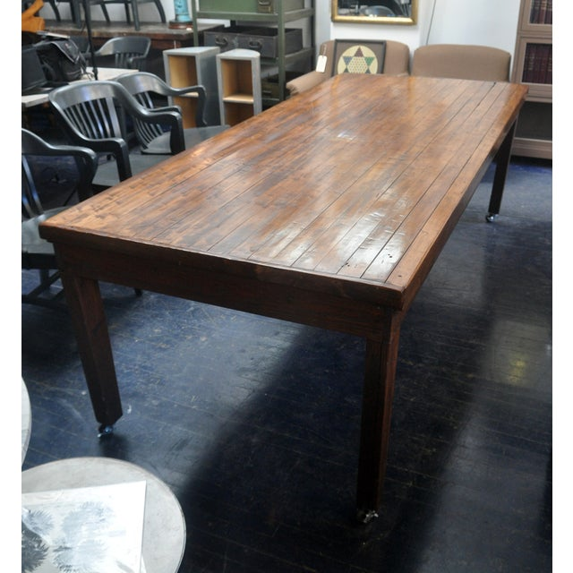 Image of Stunning Stement Piece - Maple Board Dining Table