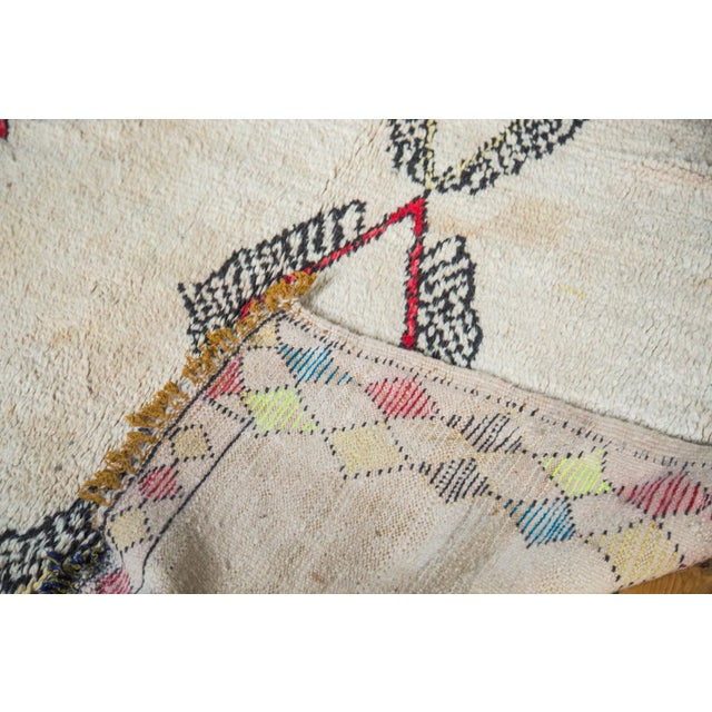 """Vintage Colorful Moroccan Rug - 4'2"""" x 7'3"""" - Image 5 of 5"""