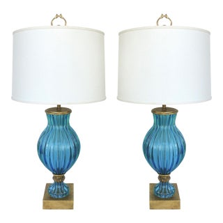 Marbro Murano Glass Table Lamps - A Pair