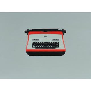 Modern Painting of 70s IBM Typewriter