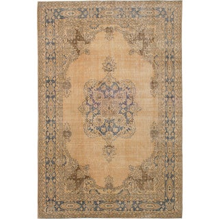 "Vintage Turkish Overdyed Rug - 6'8"" x 10'4"""