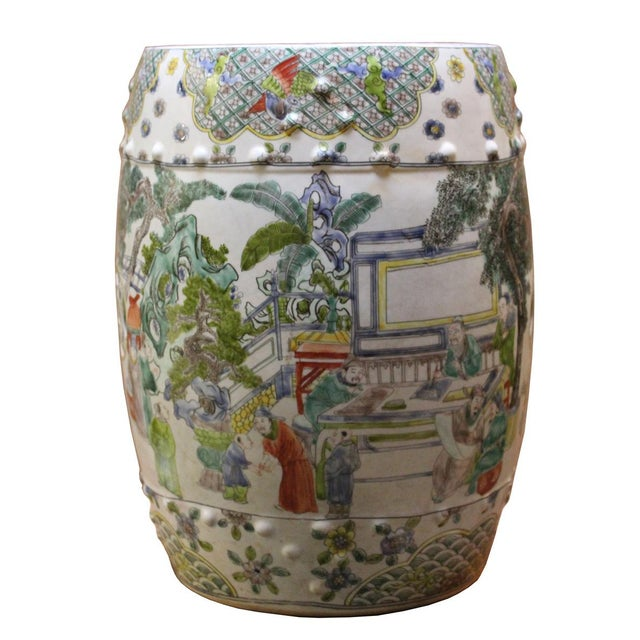Chinese Porcelain Garden Stool with Scenery - Image 3 of 10