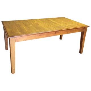 Honey Oak Extendable Dining Table