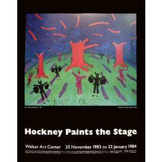 David Hockney-Ravel's Garden with Night Glow-1983 Poster
