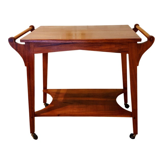 Image of Mid-Century Teak Serving Cart