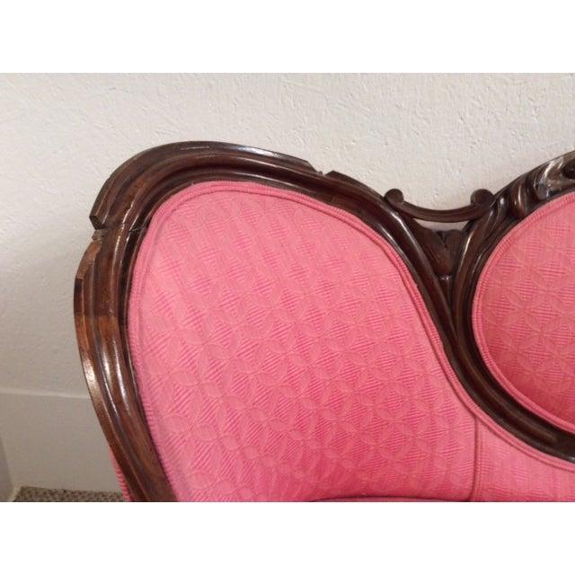 Image of Antique Victorian Loveseat