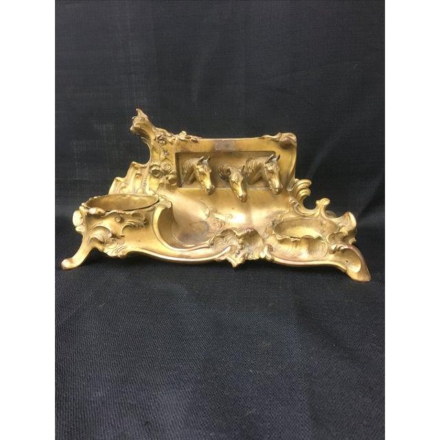Brass Equestrian Desk Caddy - Image 2 of 7