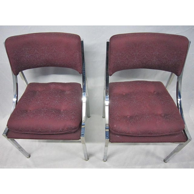 Image of Milo Baughman Dining Chairs - A Pair