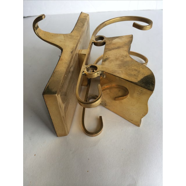 Vintage Brass Stocking Holder Sleigh - Image 5 of 6