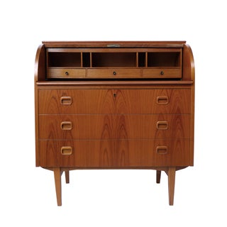Omann Junior-Style Roll-Top Secretary Desk
