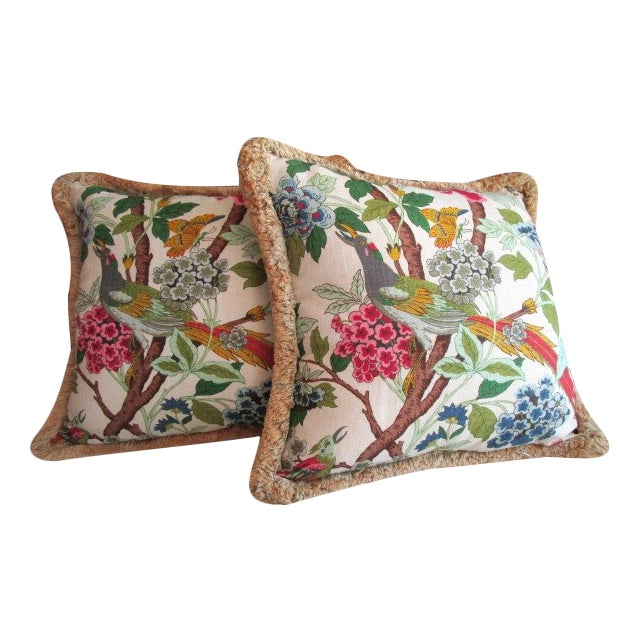 Tropical Fringe Accent Pillows - Pair - Image 1 of 4