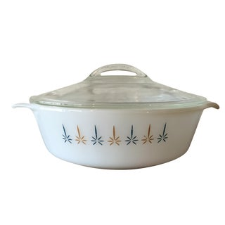 Fire King Candle Glow Casserole Dish