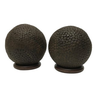 Antique French Pentanque Balls - A Pair